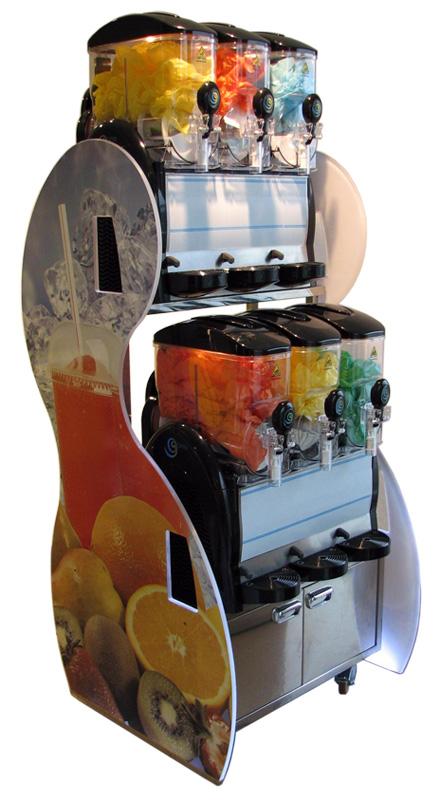 Chariot support granizadora(agua limon)